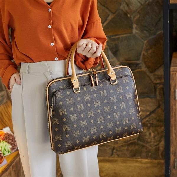 2020 Womens Negócios Pasta Mulher Laptop de Couro de 14 polegadas Bolsa de Trabalho Escritório Saco Senhoras Crossbody Bags para mulheres bolsas Q1104