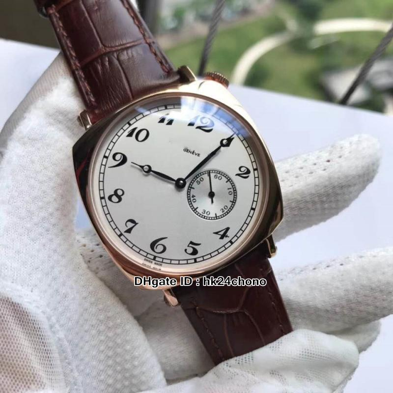 Nuevo 82035 / 000R-9359 Hombre automático Historiques Historiques American 1921 Caja de oro rosa Dial blanco Gents de alta calidad Relojes cuadrados