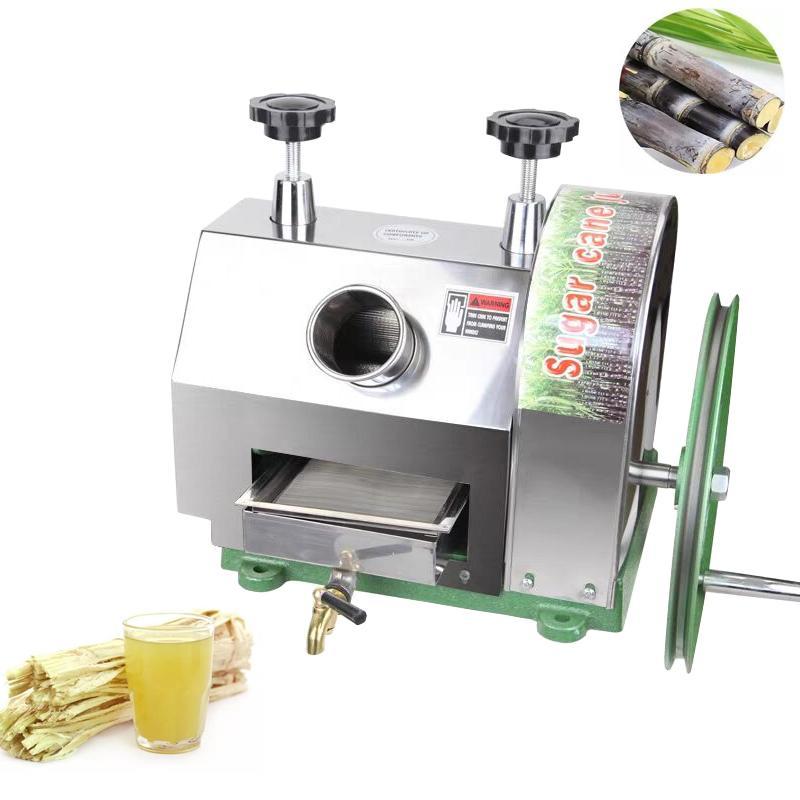 Honhill Edelstahl kommerziellen Entsäuerer Zuckerrohr Ingwer Pressemaschine Manuelle Extraktor Squeezer Mühle 50 kg / h