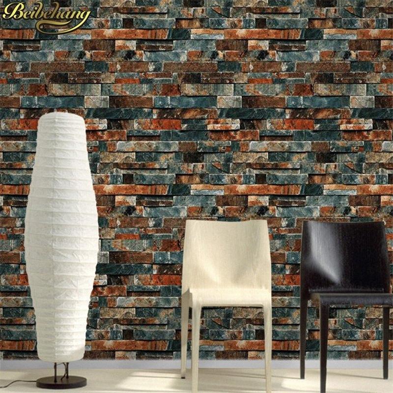 3D duvar kağıdı taş tuğla tasarım arka plan duvar kağıdı PVC su geçirmez papel de Parede tapete rulo duvar kağıdı zaxi #