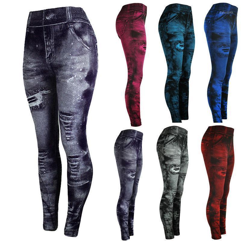 Jeans Pantalones inferiores de colores Hip-up Super Bomb Pantalones de nueve minutos Slim Tight Elasticity Pantalones Mujer1