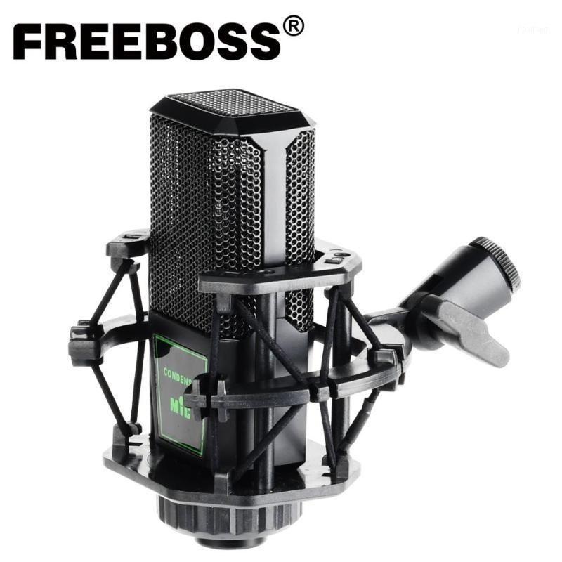 Freeboss CM-10 Microfone de Condensador Profissional com Monte para PC Radio Radiodifusão Sing Gravação Refrator Condensador Mic.1