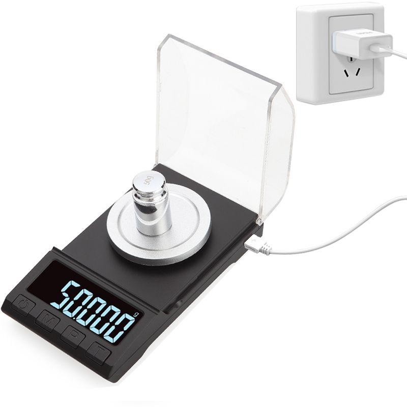 Balances de précision 0.001g électronique 100 g / 50 g / 20g Bijoux Gem pesage numérique de diamant Balance Portable Lab Poids Milligramme échelle