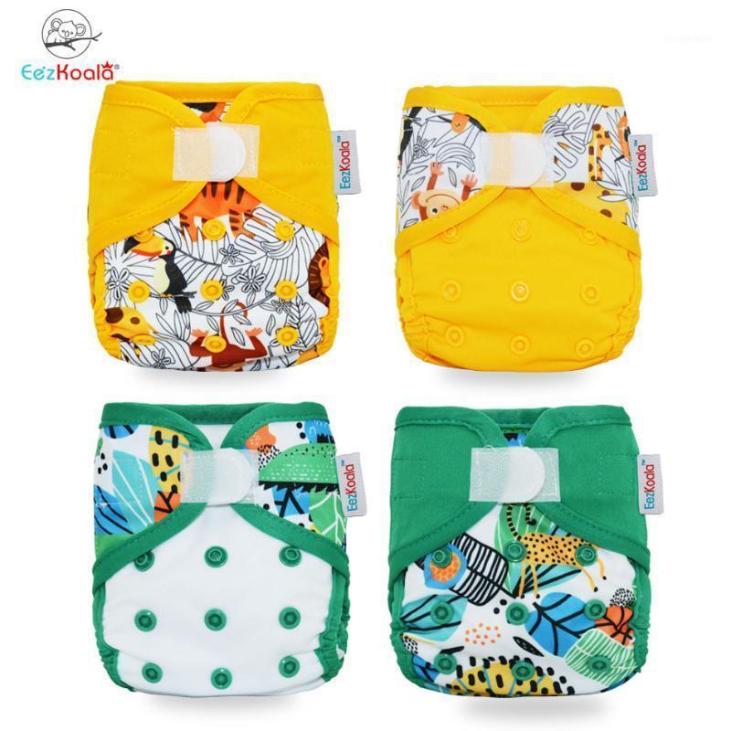 EEZKOALA Umweltfreundliche Neugeborene Tuch Windelabdeckung Babywindel Wasserdichte Abdeckungswindeln Wiederverwendbare Waschbare Einstellbare Tasche1