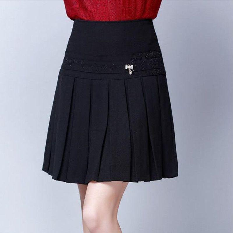 Зимние женщины с коротким цветом Большая юбка с высоким качеством PZ4B