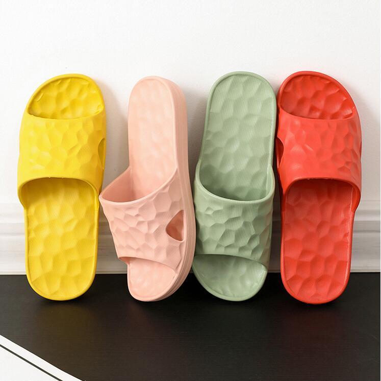 Kadın Sandalet Chaussures Sarı Yeşil Pembe Slaytlar Terlik Bayan Yumuşak Rahat Ev Otel Plaj Terlik Ayakkabı Boyutu 37-40 07