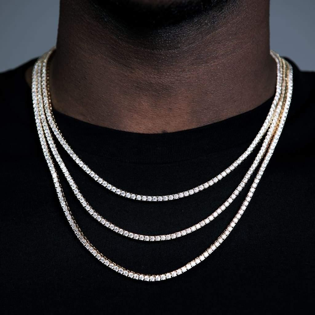 3mm CZ Теннисные цепи ожерелье классические цепные матч хип-хоп кулон 5А льняные, высокое качество мужчин мальчик хипхоп ювелирные изделия