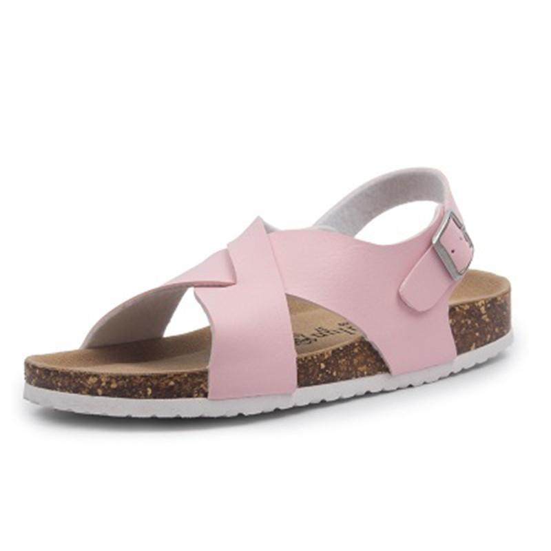 2021 Yeni Yaz Stil Kadın Geri Brace Sandalet Cork En Kaliteli Çapraz Toka Beach Sandalias Karışık Kız Takunya ZC4F