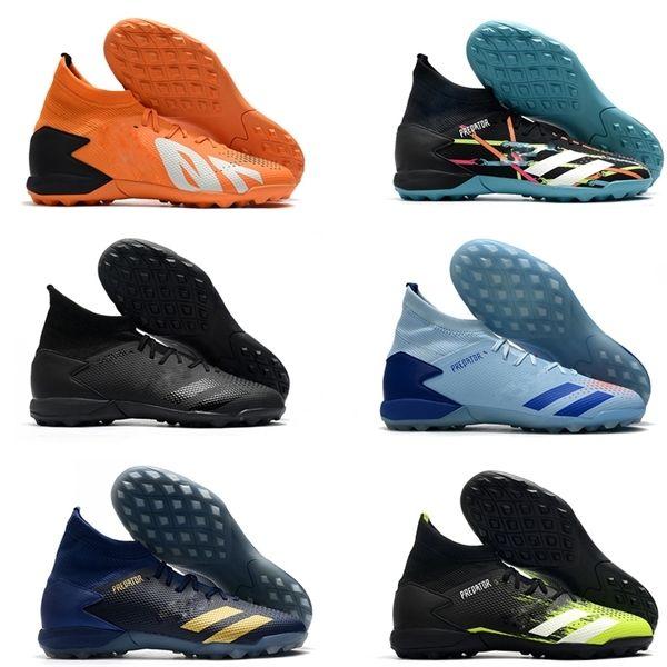 Predator 20,3 Laceless High голеностопного Mens TF бутсы Turf Футбол Бутсы HOT Тренажёры Спорт Кожа Крытый носки Футбол обувь