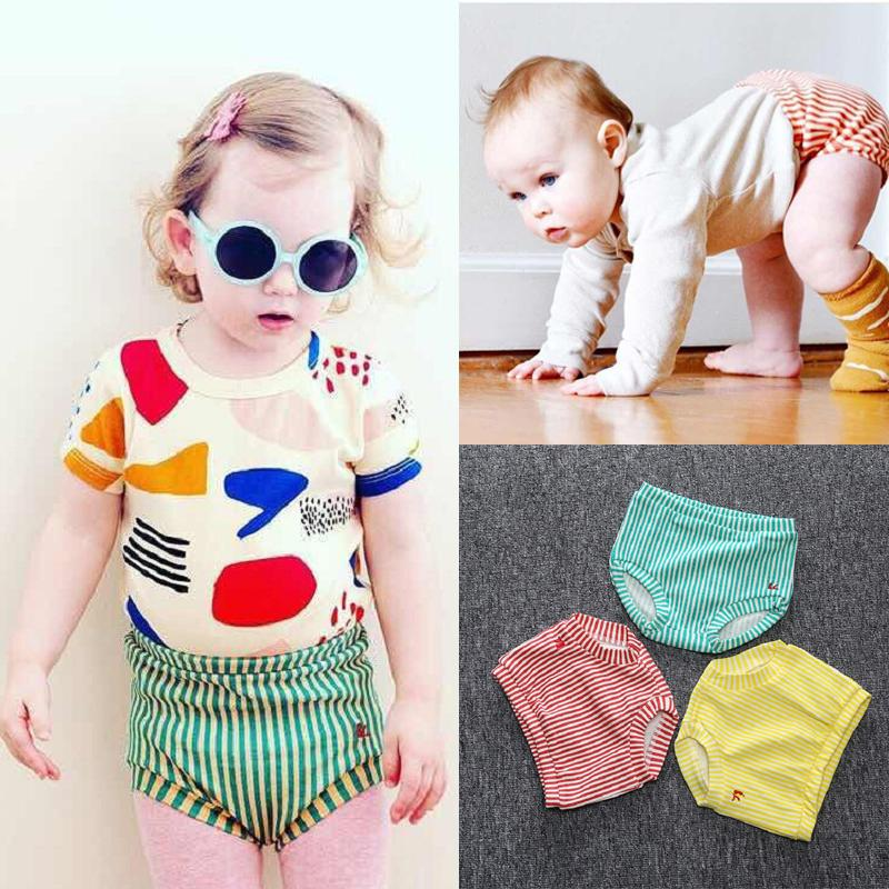 KT Wholesale Ins Baby Kids Girls Stripes Bloomers PP Pants Kids Casual Triangle Pants Boys Summer Newborn Bloomers Shorts