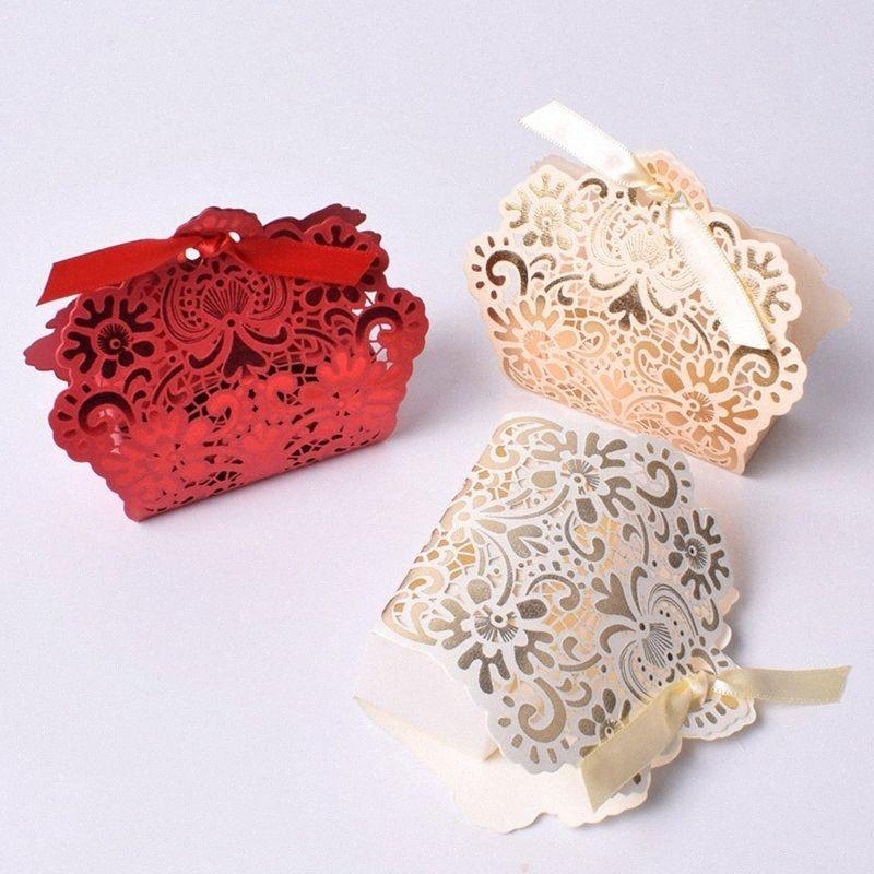 50pcs oco dos doces sacos do favor Caixas Festive Party Supplies Presente de casamento Bolsa caixas de presente para o chuveiro do bebê C1119 5zSP #