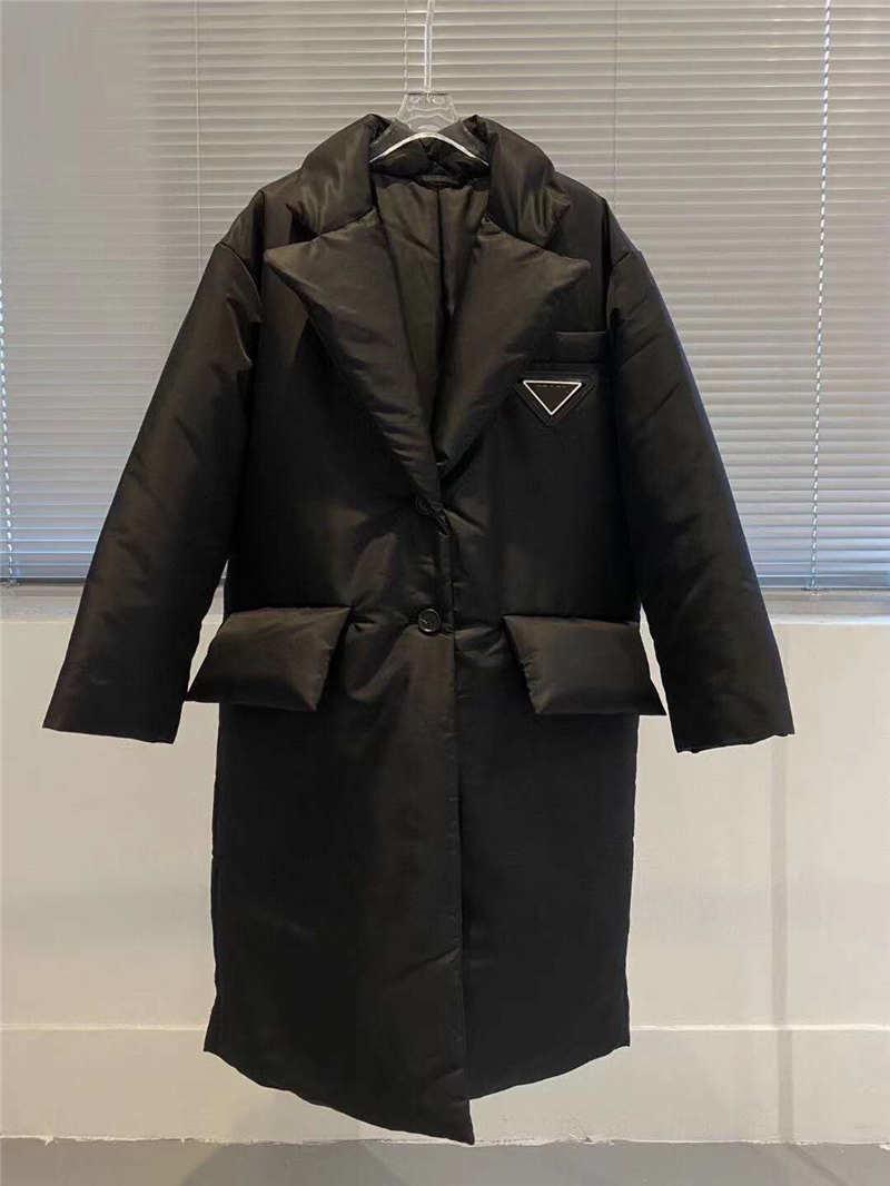 Las mujeres chaqueta abajo abrigos esquimales largos de la capa estilo de invierno con betl corsé Señora de la manera delgada chaquetas de bolsillo del Outsize de capas calientes