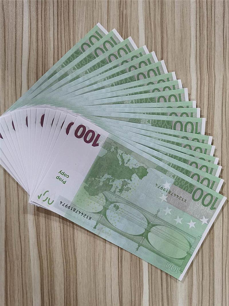 2021 Cross-Bordure Selling Movie Moderne Euro 100 Copier Papier Banknote PROP ARGENT EUR 100 PCS / PACK 09