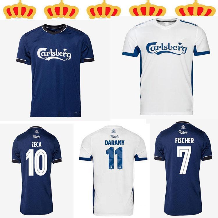 Top Quality 2021 Superligaen FC Dinamarca Copenhaga Futebol Jerseys Skov Fischer Zeca 20 21 Camisa de Futebol