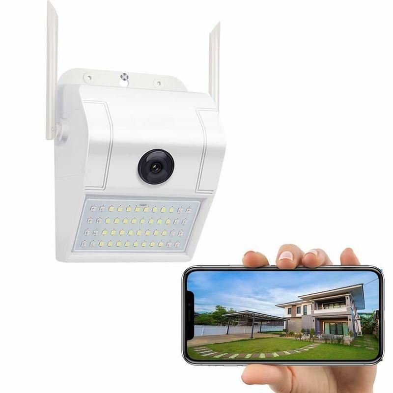 미니 카메라 1080P 무선 와이파이 IP 카메라 2MP 벽 램프 보안 야외 양방향 오디오 투광 조명 컬러 야간 투시경