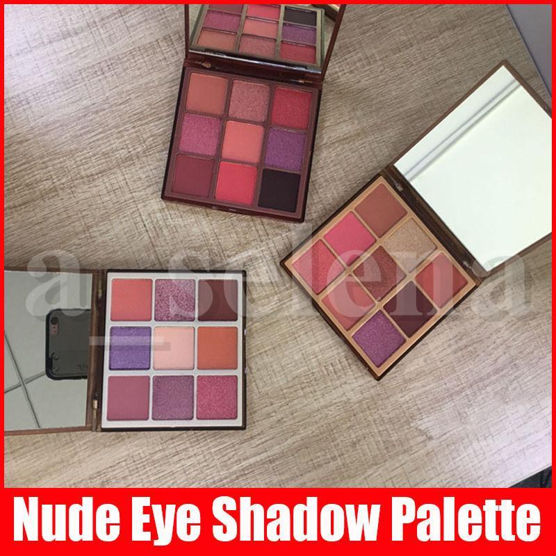 Trucco degli occhi Nuova 9 colori nuda Eyeshadow Palette Matte Shimmer Pressed ombretti tavolozze Leggera Media Rich 3 stili