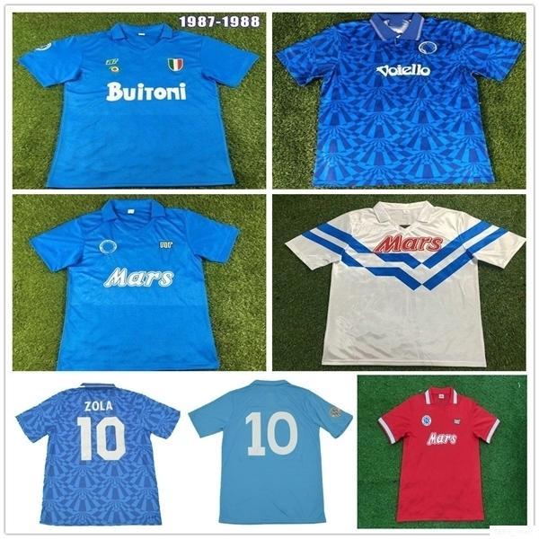 1987 1988 1989 1991 1993 Retro Napoli Soccer maglie Alemao CARECA MARADONA HAMSIK 87 88 89 91 93 Napoli casa lontano Camicie Terzo calcio