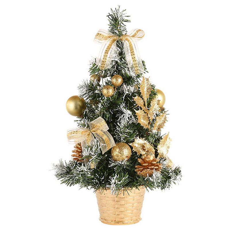 40см Праздник Art Craft отель Festival Simulation Party Фото Prop Mini Christmas Tree Home Decor Desktop украшение подарки ПВХ