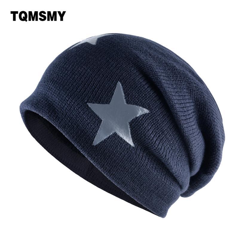 chapeau de tricot pour hommes Gorro / 124; étoiles chapeau cinq étoiles, la soie d'hiver féminin chapeau polaire, os chaud