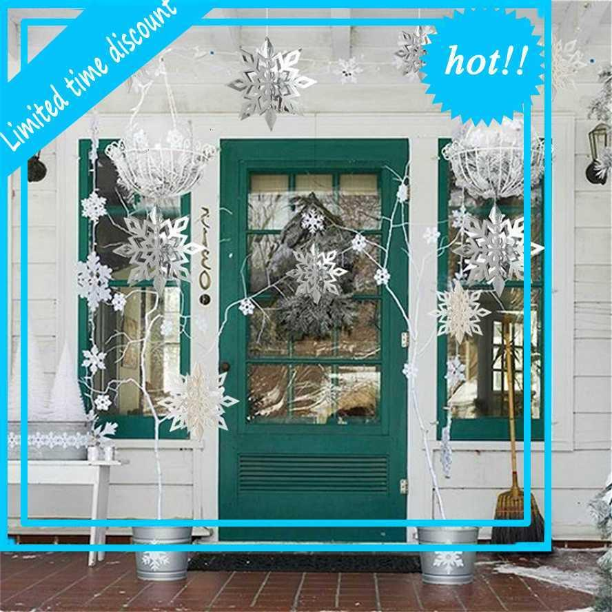 6pcs Carte Papier 3D creux de flocon de neige creux plomberie décoration décoration de la fête des carreaux décorations de Noël pour la maison