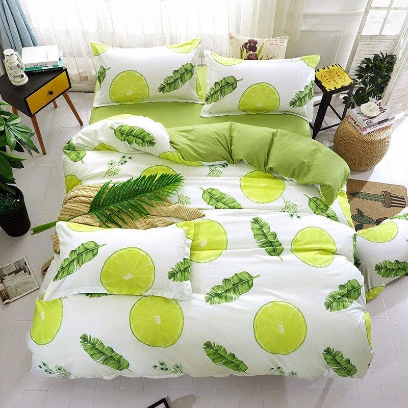 Frutas Abacaxi Printed Boy Girl Cama Folha de cama Cover Set Duvet Cover Adulto Criança Pillowcase Consolador Bedding Set 61003 rPtW #