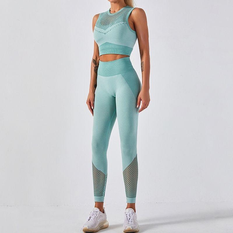 LANTECH Женские спортивные костюмы Йога наборы подъемные приседания тренажерный зал Фитнес брюки логинги бюстгальтер тренировка бесшовные одежда спортивная одежда активная