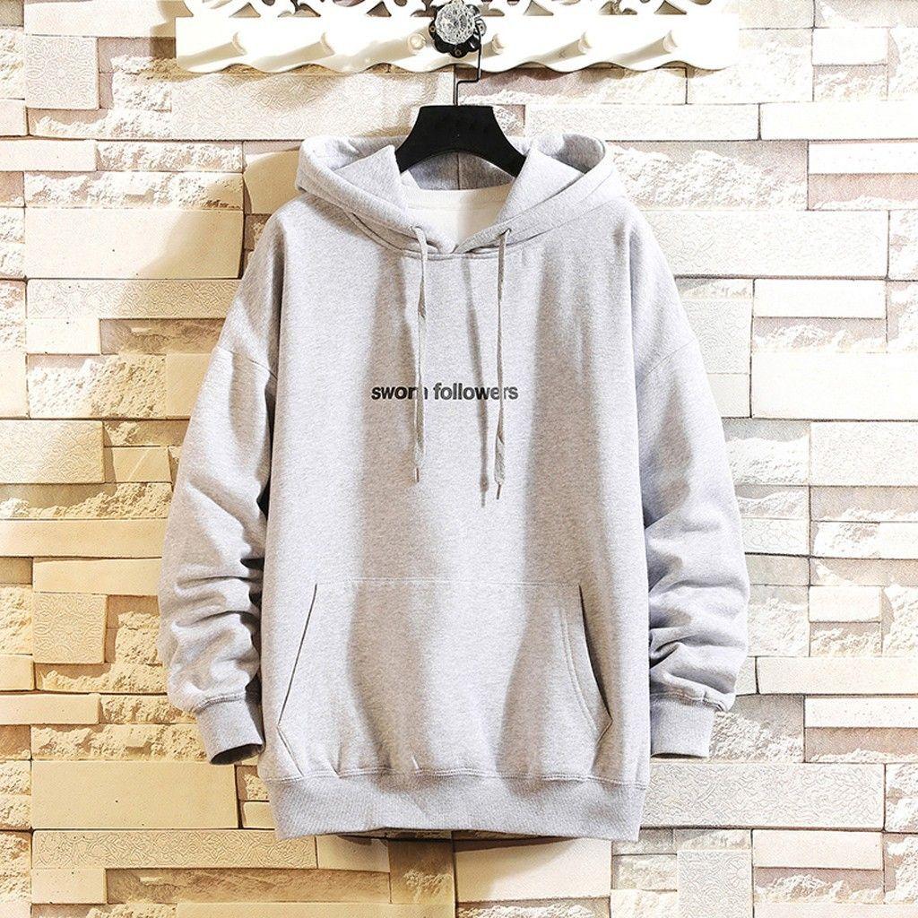 2020 erkek Mektup Baskı Kazak Hoodies Rahat Spor Hoodie Erkekler Moletom Kış Uzun Kollu Sweatershirt