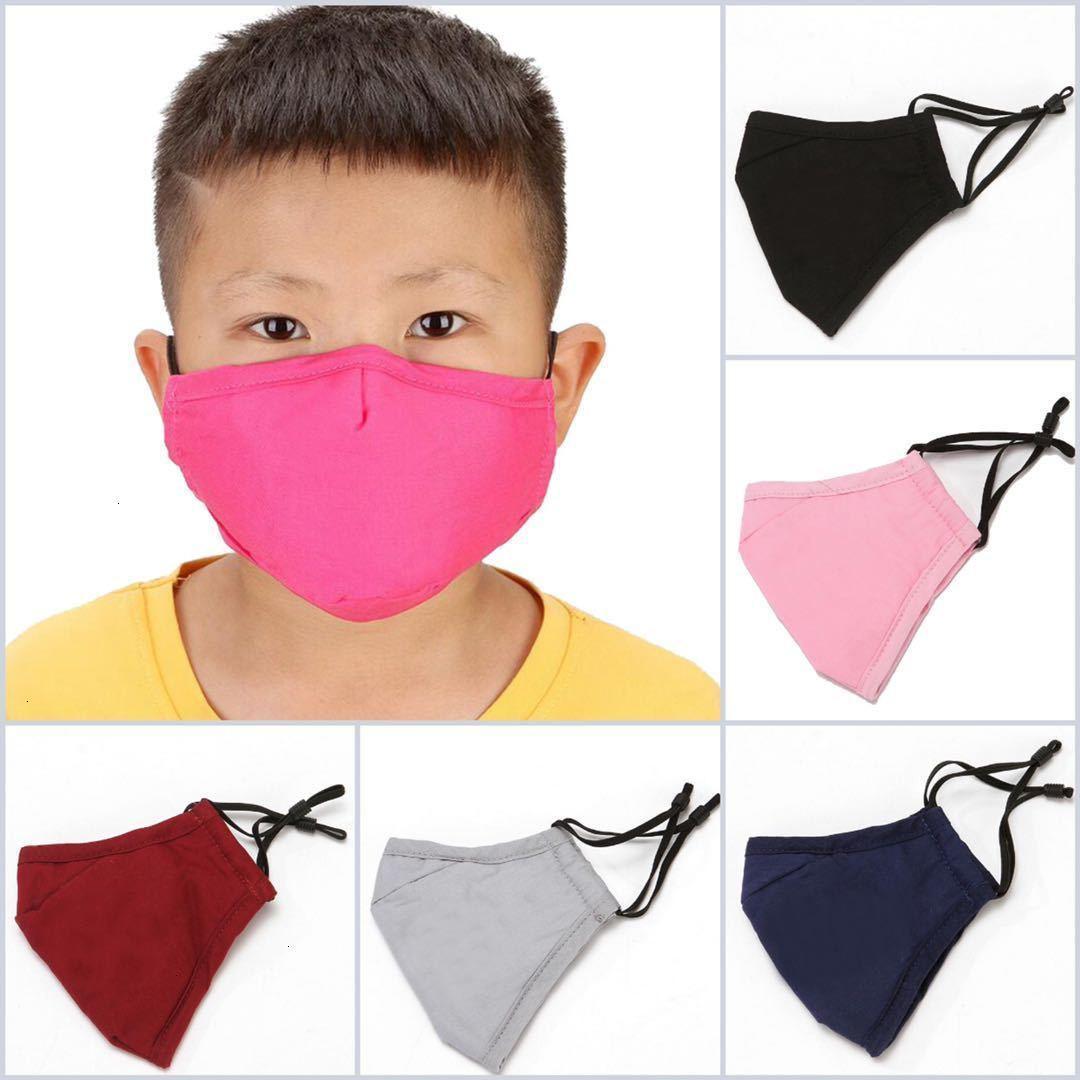 Fabrikpreis Kinder 50 stücke Niedliche Cartoon Baumwolltuch PM2.5 Waschbare Anti-Haze-Gesicht Anti-Dust-Maske Bunte Vlies