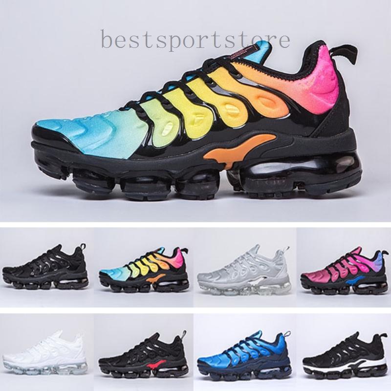 Nike Air vapormax tn plus 2019 TN PLUS zapatos corrientes para los hombres Mujeres Rojo Negro Blanco Blanco Negro antracita Ultra 2019 mejor diseñador zapatillas de deporte 36-4