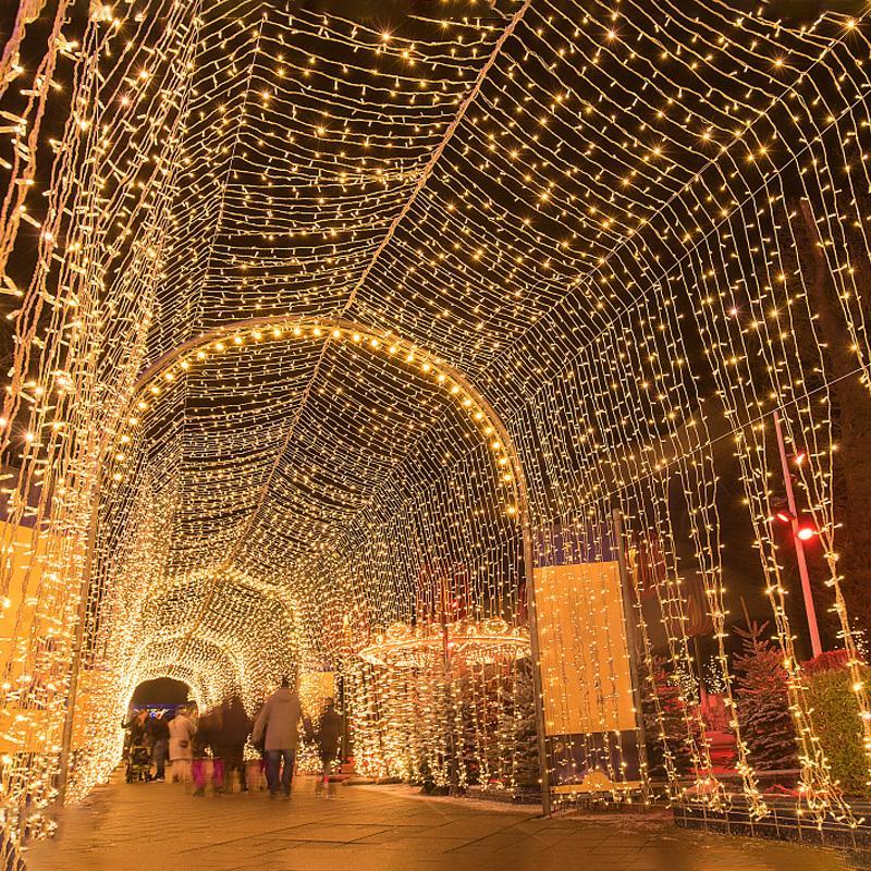 10m führt Schnur-Girlande Weihnachtsbaum-Fee Lichterkette Wasserdicht Hausgarten Hochzeit Party im freien Feiertags-Dekoration