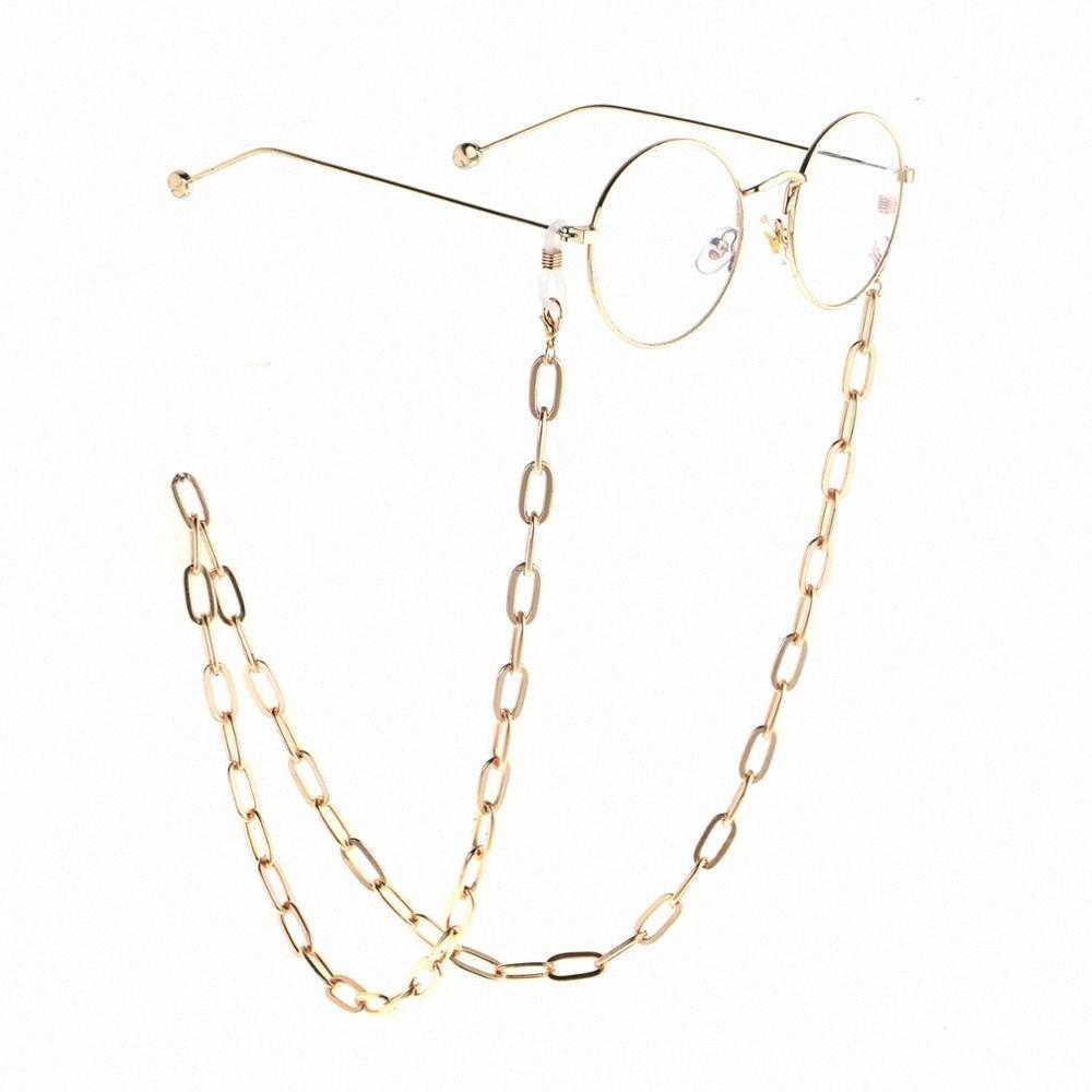 JGL0026 2020 conception de la chaîne des verres épais de métal d'or de lunettes de soleil Longe Collier cordon de cou Porte-bijoux Port de lunette 44Po #