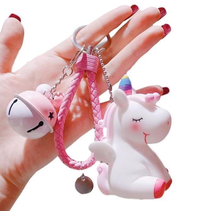 2021 ZB55 Fashion New European and American Cartoon Cartolo carino Unicorn Doll Key Catena a catena Pendente Signora Borsa Catena Portachiavi Catena Piccolo regalo