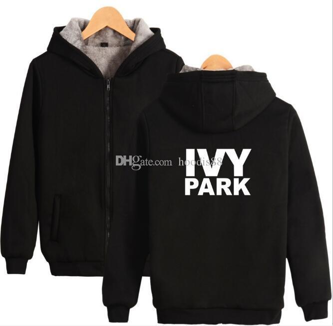 Chaqueta de algodón de las mujeres de la moda IVY Parque Digital Impreso cremallera sudaderas con capucha de los hombres de