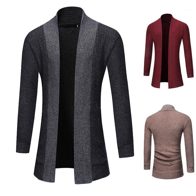 MRMT 2019 Marca Sweater Swets Chaquetas Cardigan Sólido Cardigan Manguera de manga larga Media y larga Sección para ropa exterior masculina Garment1