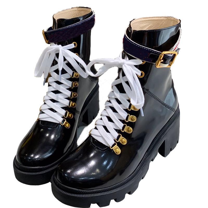 Frauen Martin Stiefel Frauen Stiefel Martin Desert Boot Wüste Frauen Stiefel Plattform Bootsräume Medaille Grob Rutschfeste Winterschuhe Größe Größe 34-41