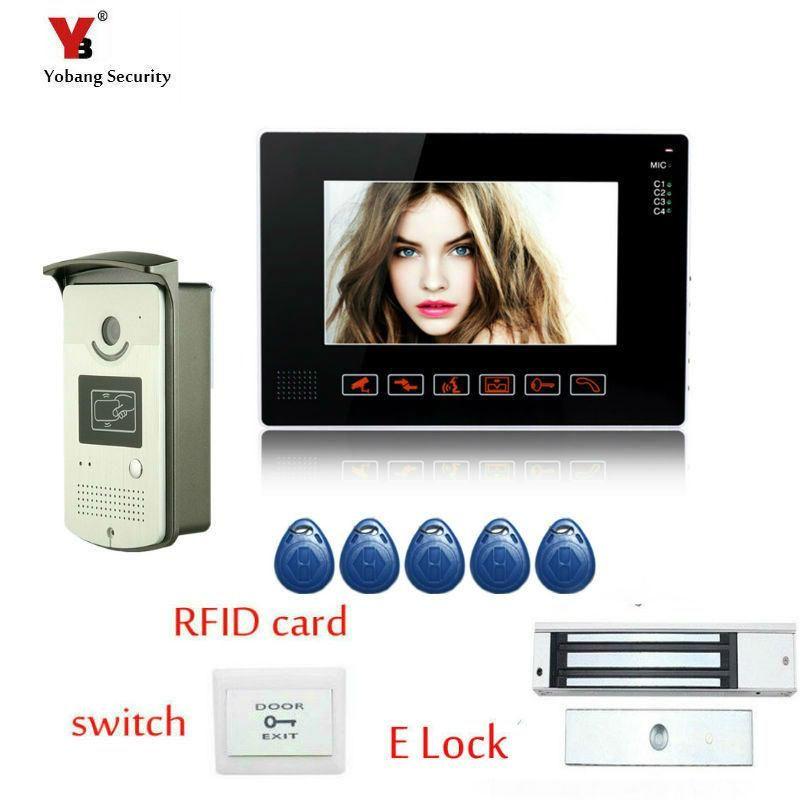 Yobang Security 9 inch Monito video door phone intercom system video doorbell Alloy camera door bell interphone Kit