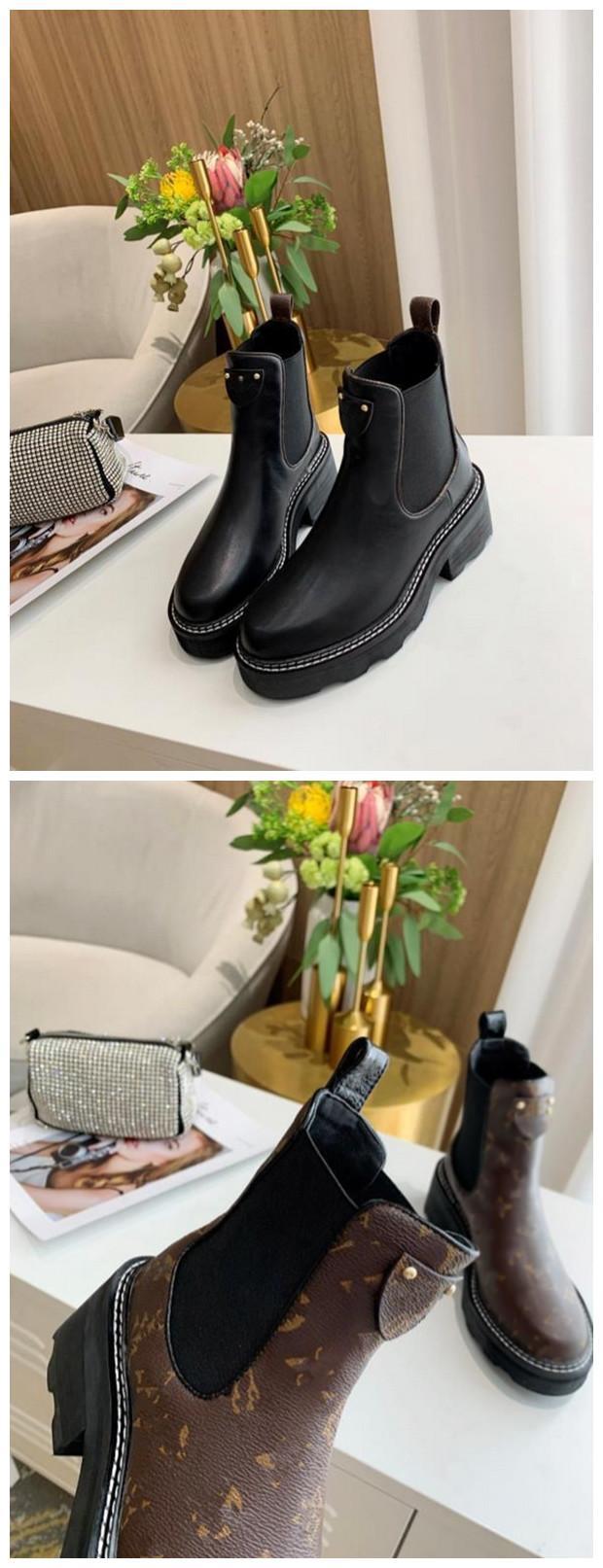 De alta calidad BEAUBOURG tobillo mujeres de las botas zapatos botas de invierno muchachas de las señoras de seda de la piel de vacuno de alta Top para mujer plana del cargador del tobillo