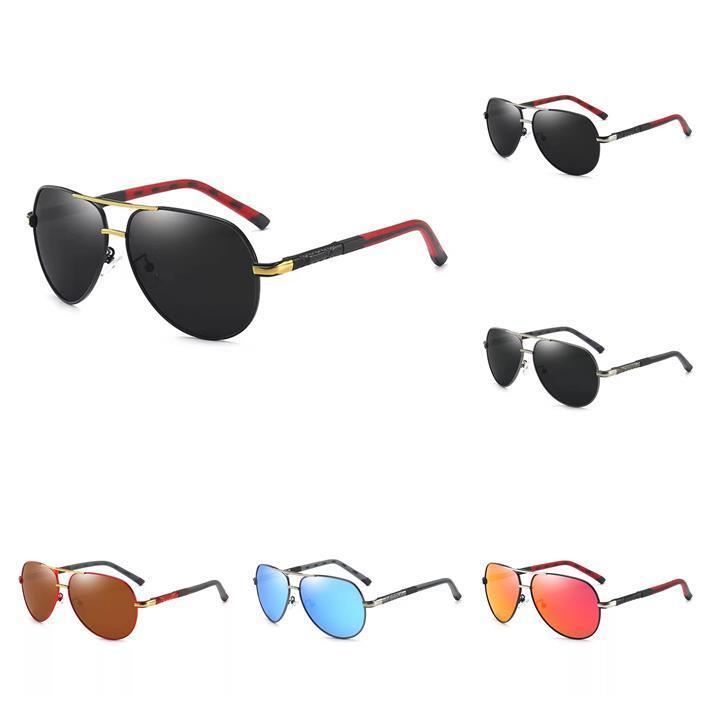 أفضل بيع أزياء رجالي الرجعية طيار نظارات شمسية استقطاب uv400 خمر الرجال النظارات الشمسية القيادة النظارات الشمسية مع صندوق للرجال