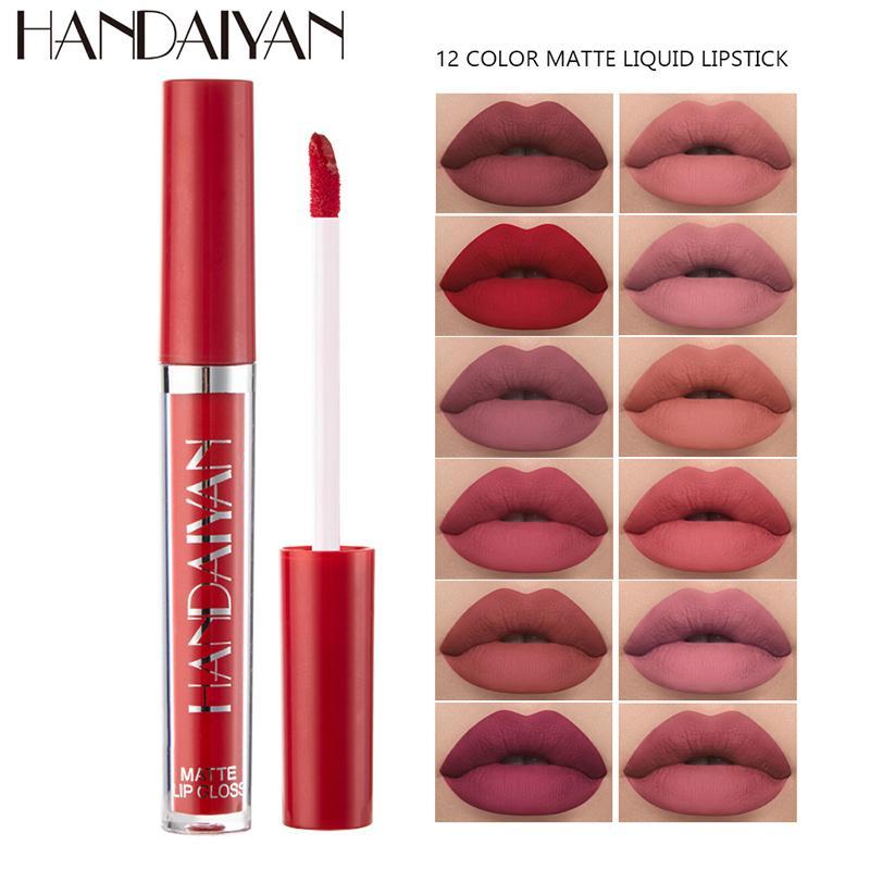 2021 Trucco Handiyan Lipstick Lip Gloss Set 12 Colori Natural idratante impermeabile Lipgloss cosmetico cosmetico nave libera