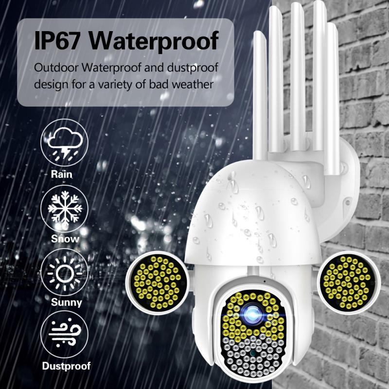 Inizio safe172 LED 1080P videocamera di sicurezza IP HD WiFi CCTV PTZ IR di velocità da esterno senza fili impermeabile macchina fotografica di WiFi videocamere consumer
