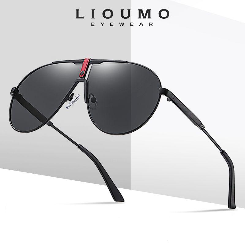 Lioumo для поляризованных солнцезащитных очков мужская мода очки Sol против блики женщин на открытом воздухе вождение очки классические негабаритные де одолжительность GWTDT