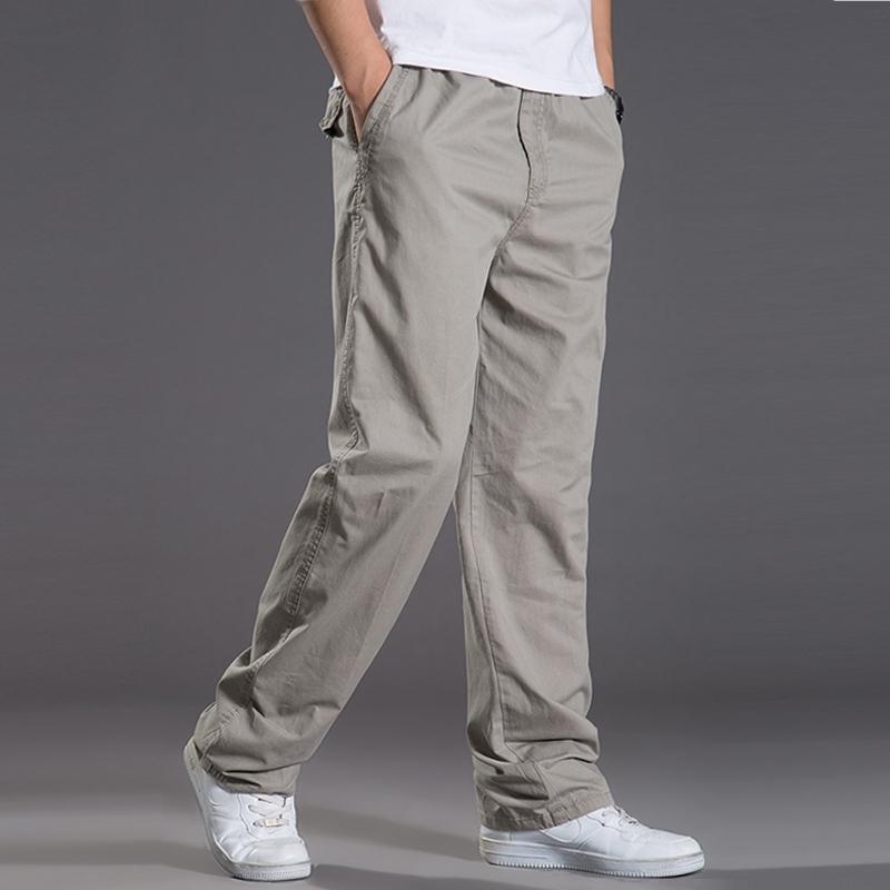 2020 New spring summer casual Pants men cargo pants cotton loose trousers mens pants overalls fashion super large XL-6XL 422 LJ201007