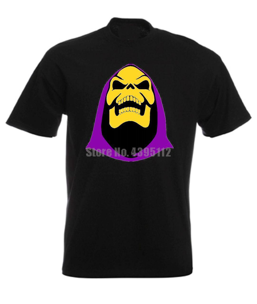 Skeletor He Man Masters Of The Universe 80 der Karikatur-T-Shirt Hip Hop-T-Shirt Sexy Mädchen Shirts Schwarz Weißer Sport T-Shirt Hoodie