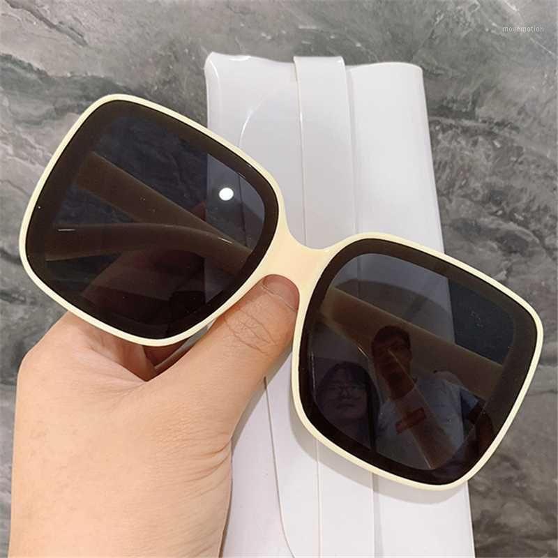 Kujuny Boy Kare Vintage Bayanlar Kadınlar Gözlük Süt Çerçeve Güneş Erkekler Güneş Gözlüğü Gözlük Için Büyük Renk Gözlük Sunshade1 RSDKR