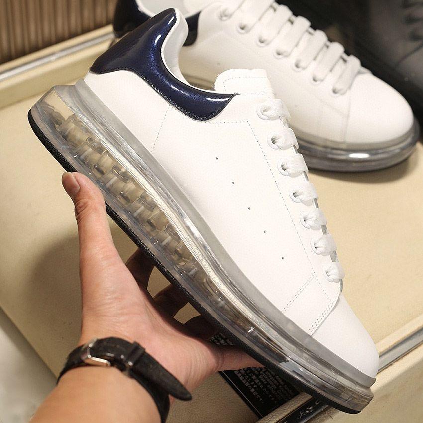 Mens Plataforma Sapatos de Almofada Crystal Bottom Mulheres Altura de Jelly Strinestone Top Couro Moda Sapatilhas Flat Designer Casual Sapatos