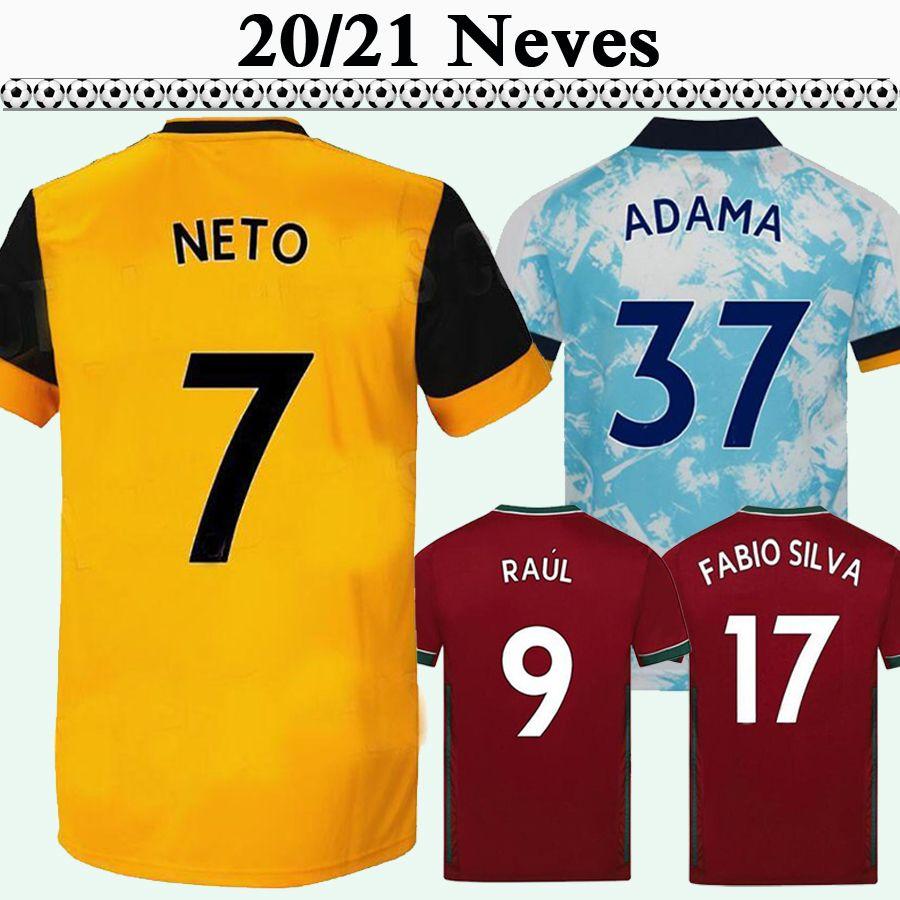 20 21 CAVALEIRO Mens Soccer Jerseys NEVES BOLY DIOGO J. Home Yellow Football Shirts Wolves Short Sleeve Sleeve maillots de foot Uniforms