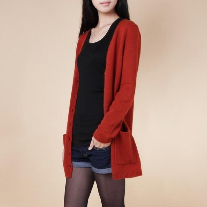 neuer Strickjacke Frauen Frühling Herbst lange Strickjacke Dame Kaschmir Material losen Pullovers für weibliche Oberbekleidung Mantel mit Taschen 200929