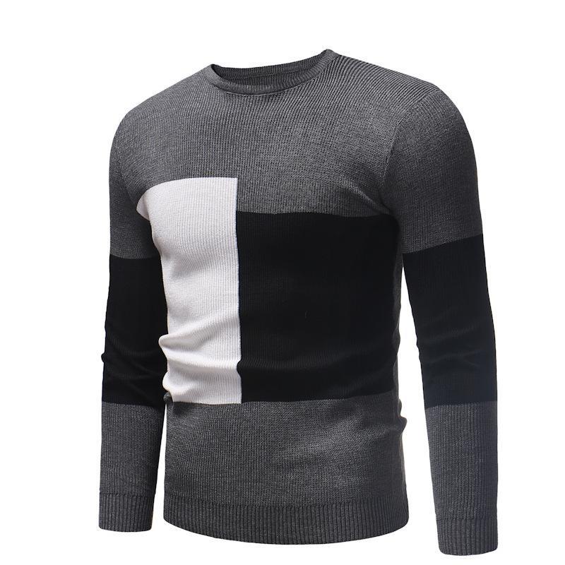 Autunno e inverno nuovo modo comodo con scollo rotondo in cotone tondo maglione pullover maschile maglione casual maglia maglia