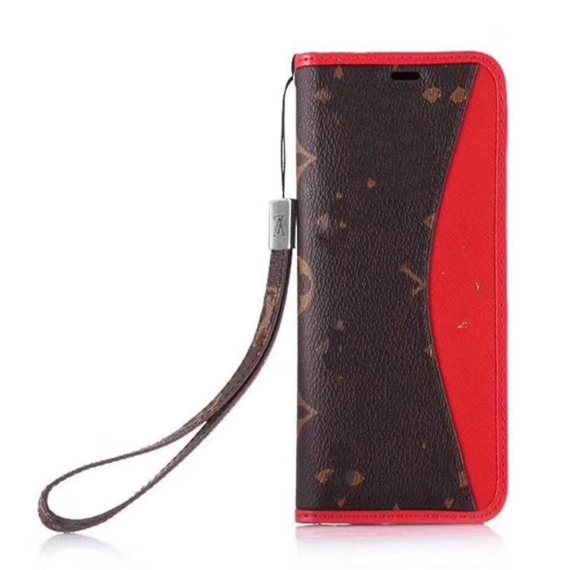 Cassa del telefono del portafoglio di flip per iPhone XS XR X Samsung S9 S10 Plus Cover posteriore in pelle di lusso in pelle di lusso con slot con carta di credito