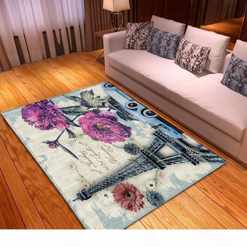 Fashion Scenic Parlor Sofa Carpets Decor Floor Area Rug Bedroom Bedside Anti-slip Rugs Kids Play Mat Carpet for Living Room